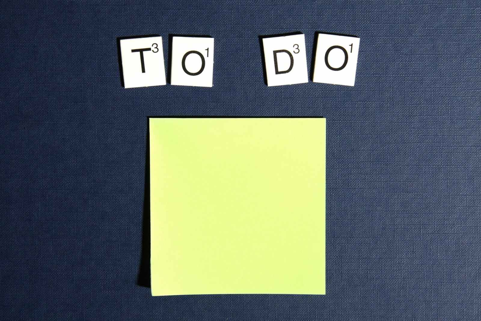 postit scrabble to do todo
